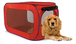 Kitty City - Переносной домик для собак средних пород Portable dog kennel medium, 81*49,5*49.5 см - фото 5746