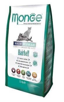 Monge - Сухой корм для кошек для выведения шерсти (курица) Cat Hairball - фото 6058
