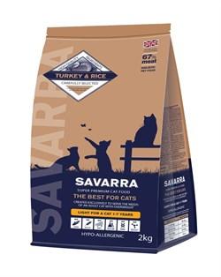 SAVARRA - Сухой корм для взрослых кошек с избыточным весом и стерилизованных (индейка с рисом) Light Cat Turkey & Rice - фото 6152
