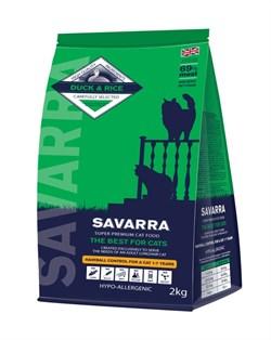 SAVARRA - Сухой корм для взрослых кошек, препятствующий образованию комочков шерсти в желудке (утка с рисом) Adult Cat Hairball Control Duck & Rice - фото 6154