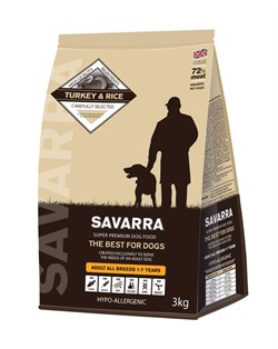 SAVARRA - Сухой корм для взрослых собак (индейка с рисом) Adult Dog Turkey & Rice - фото 6155