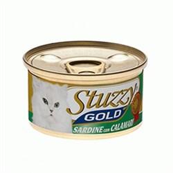 Stuzzy - Консервы для кошек (сардины с кальмарами в собственном соку) GOLD - фото 6189