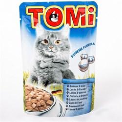 Tomi - Паучи для кошек (лосось с форелью) - фото 6249