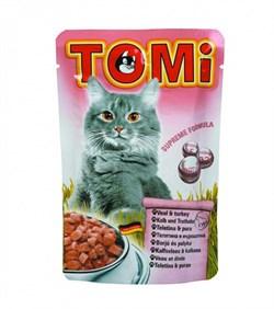 Tomi - Паучи для кошек (телятина с индейкой) - фото 6252