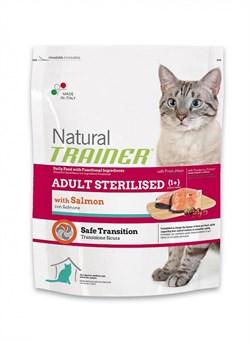 Trainer - Сухой корм для взрослых кастрированных котов и стерилизованных кошек (с лососем) Natural Adult Sterilised Salmon - фото 6278