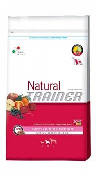 Trainer - Сухой корм для щенков и юниоров средних пород Natural Medium Puppy and Junior - фото 6309
