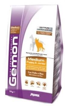 Gemon Dog - Сухой корм для щенков средних пород (курица с рисом) Medium Puppy & Junior - фото 6329