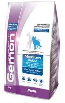 Gemon Dog - Сухой корм для взрослых собак средних пород (тунец с рисом) Medium - фото 6334