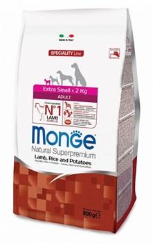 Monge - Сухой корм для взрослых собак миниатюрных пород (ягнёнок с рисом и картофелем) Dog Speciality Extra Small - фото 6354