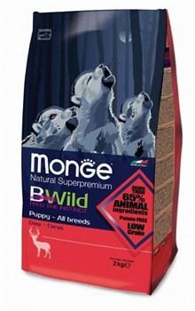 Monge - Сухой корм для щенков всех пород (оленина) Bwild Dog Deer - фото 6361