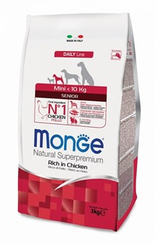 Monge - Сухой корм для пожилых собак мелких пород Dog Mini - фото 6368
