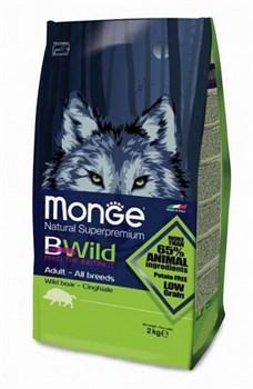 Monge - Сухой корм для взрослых собак всех пород с мясом дикого кабана Bwild Dog Boar - фото 6369