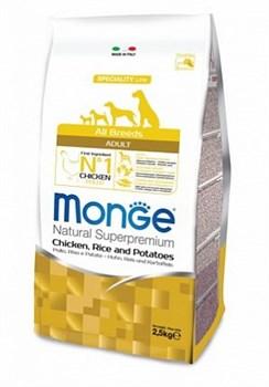 Monge - Сухой корм для собак всех пород курица с рисом и картофелем Dog Speciality - фото 6371