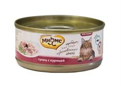 Мнямс - Консервы для кошек (тунец с курицей в нежном желе) - фото 6398