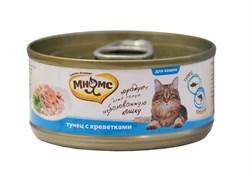 Мнямс - Консервы для кошек (тунец с креветками в нежном желе) - фото 6399