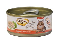 Мнямс - Консервы для кошек (курица с ветчиной в нежном желе) - фото 6404