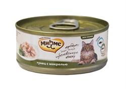 Мнямс - Консервы для кошек (тунец с макрелью в нежном желе) - фото 6405