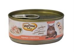 Мнямс - Консервы для кошек (курица с лососем в нежном желе) - фото 6407