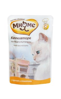 "Мнямс - Паучи для кошек ""Каччиаторе по-неаполитански"" (курица с томатами) - фото 6411"