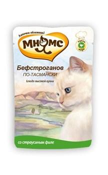 """Мнямс - Паучи для кошек """"Бефстроганов по-тасмански"""" (с мясом страуса) - фото 6419"""