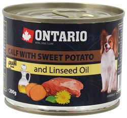 Ontario - Консервы для собак малых пород (с телятиной и бататом) Mini Calf With Sweet Potato, Dandelion and Linseed oil - фото 6457