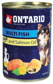Ontario - Консервы для собак малых пород (рыбное ассорти) Mini Multi Fish, Salmon oil - фото 6460