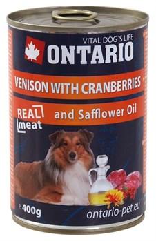 Ontario - Консервы для собак (с олениной и клюквой) Venison With Cranberries, Safflower Oil - фото 6461