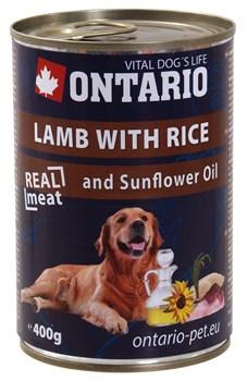 Ontario - Консервы для собак (с ягненком и рисом) Lamb With Rice, Sunflower Oil - фото 6462