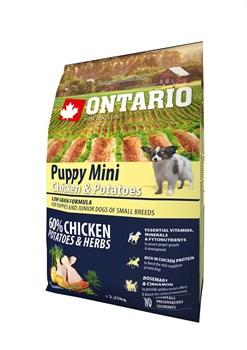 Ontario - Сухой корм для щенков малых пород (с курицей и картофелем) Puppy Mini Chicken & Potatoes - фото 6463