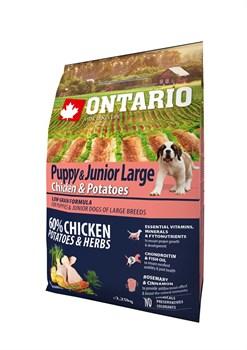 Ontario - Сухой корм для щенков крупных пород (с курицей и картофелем) Puppy & Junior Large Chicken & Potatoes - фото 6464