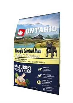 Ontario - Сухой корм для собак малых пород Контроль веса (с индейкой и картофелем) Mini Weight Control Turkey & Potatoes - фото 6466