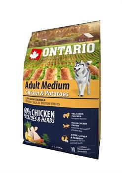 Ontario - Сухой корм для собак (с курицей и картофелем) Medium Chicken & Potatoes - фото 6467