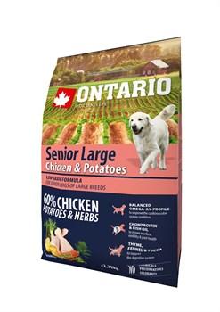 Ontario - Сухой корм для пожилых собак крупных пород (с курицей и картофелем) Senior Large Chicken & Potatoes - фото 6469