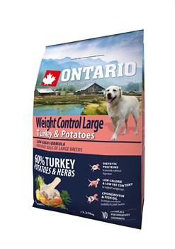 Ontario - Сухой корм для собак крупных пород Контроль веса (с индейкой и картофелем) Large Weight Control, Turkey & Potatoes - фото 6470
