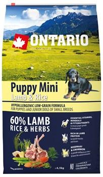 Ontario - Сухой корм для щенков малых пород (с ягненком и рисом) Puppy Mini Lamb & Rice - фото 6477