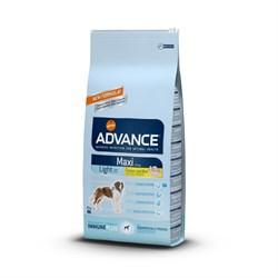 Advance - Сухой корм для взрослых собак крупных пород Контроль веса (с курицей и рисом) Maxi Light - фото 6487