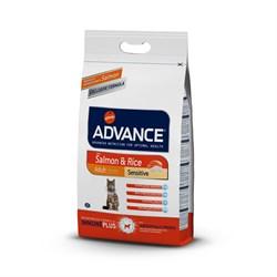 Advance - Сухой корм для кошек с чувствительным пищеварением (с лососем и рисом) Adult Salmon Sensitive - фото 6506