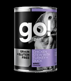 GO! Natural Holistic - Консервы беззерновые для собак (с тушеной курицей, индейкой и мясом утки) Grain Free Chicken Stew with Turkey + Duck - фото 6534