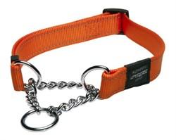 Rogz - Полуудавка строгая, оранжевый (размер L (40-56 см), ширина 2 см) UTILITY OBEDIENCE HALF CHECK COLLAR - фото 6613