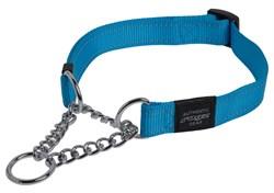 Rogz - Полуудавка строгая, голубой (размер L (40-56 см), ширина 2 см) UTILITY OBEDIENCE HALF CHECK COLLAR - фото 6615