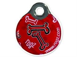 """Rogz - Адресник пластиковый малый """"Красные косточки"""" INSTANT ID TAG SMALL - фото 7100"""