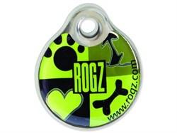 """Rogz - Адресник пластиковый малый """"Лаймовый сок"""" INSTANT ID TAG SMALL - фото 7103"""