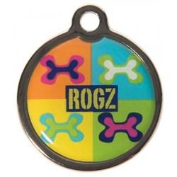 "Rogz - Адресник металлический малый ""Поп-арт"" METAL ID TAG SMALL - фото 7118"