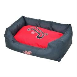 """Rogz - Лежак с бортиком и двусторонней подушкой """"Красные косточки"""", малый (56x35x22 см) SPICE WALL BED SMALL - фото 7134"""