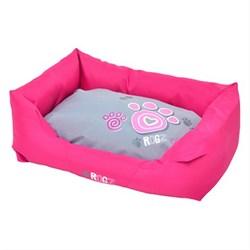 """Rogz - Лежак с бортиком и двусторонней подушкой """"Розовая лапка"""", средний (72x45x25 см) SPICE WALL BED MEDIUM - фото 7138"""