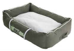 Rogz - Лежак с бортиком и двусторонней подушкой, оливковый/кремовый, малый (56x35x22 см) LOUNGE POD SMALL - фото 7152