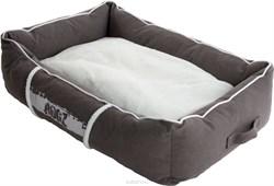 Rogz - Лежак с бортиком и двусторонней подушкой, серый/кремовый, средний (72x45x25 см) LOUNGE POD MEDIUM - фото 7153