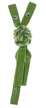 Rogz - Канатная игрушка с пищалкой, большая (лайм) COWBOYZ ROPE TOY - фото 7170