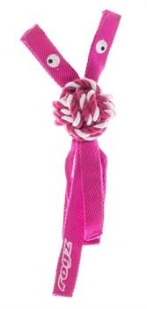 Rogz - Канатная игрушка с пищалкой, большая (розовый) COWBOYZ ROPE TOY - фото 7172