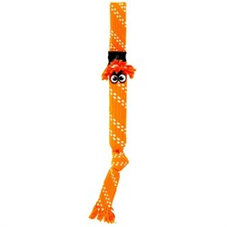 Rogz - Игрушка веревочная шуршащая, малая (оранжевый) SCRUBZ ROPE TUG TOY - фото 7176